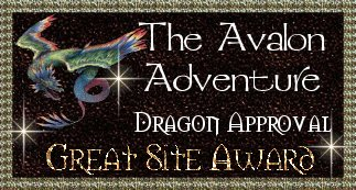 The Avalon Adventure Dragon Approval Great Site Award